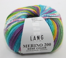 Lang Yarns Merino 200 Bébé Color Farbe 478