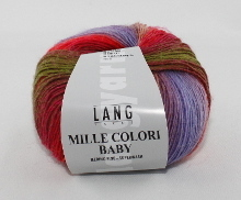 Lang Yarns Mille Colori Baby Farbe 61 Rot/Lila/PInk/Flieder