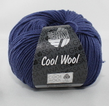 Lana Grossa Cool Wool Farbe 440 Ultramarineblau