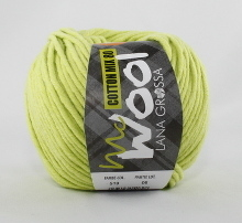 Lana Grossa Mc Wool Cotton Mix 80 Farbe 519 Hellgrün