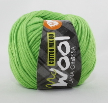 Lana Grossa Mc Wool Cotton Mix 80 Farbe 520 Giftgrün