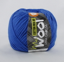 Lana Grossa Mc Wool Cotton Mix 80 Farbe 522 Blau