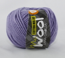 Lana Grossa Mc Wool Cotton Mix 80 Farbe 523 Flieder