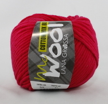 Lana Grossa Mc Wool Cotton Mix 80 Farbe 524 Magenta