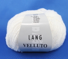 Lang Yarns Velluto Farbe 01 Weiß