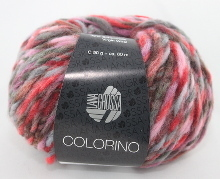 Lana Grossa Colorino Farbe 03 Rot/Pink/Lila