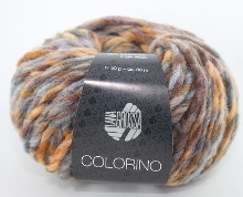 Lana Grossa Colorino Farbe 05 Orange/Blau/Braun