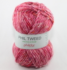 Phildar Phil Tweed Farbe pivoine