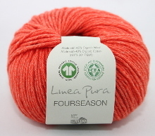 Lana Grossa Linea Pura Fourseason Farbe 16 Orange